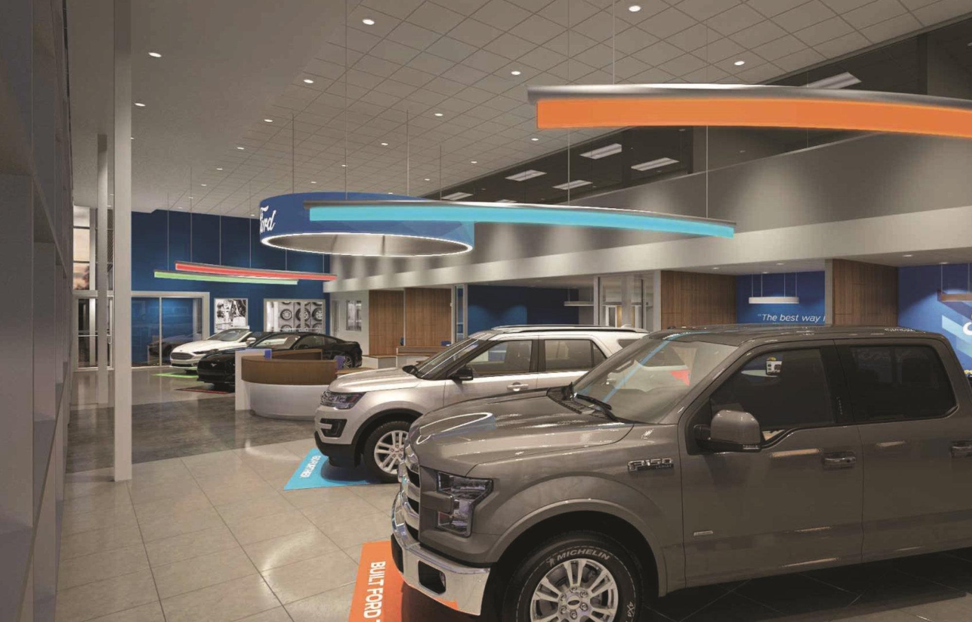 Các dòng xe mới nhất của FORD sẽ được trưng bày tại Showroom