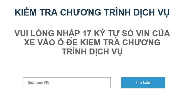 Chuong trinh Kiem tra Dich vu Ford Viet Nam